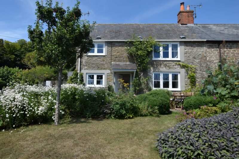 View towards the front of this charming stone cottage